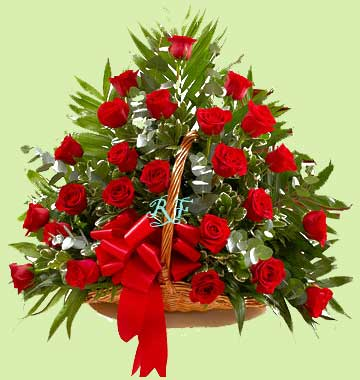 Order Now 25 Red Rose Basket Birthday Gift 75 AED 275